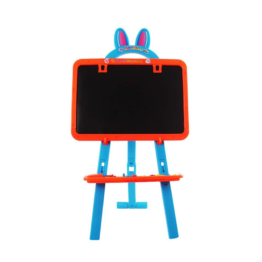 ChenYongPing Tavolo da Disegno per Bambini Cavalletto Artistico 2-in-1 - Lavagna Bianca e Magnetica, Forma Animale a Forma di Fumetto Regolabile Cavalletto in Legno a Doppia Faccia