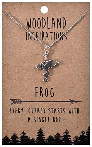 Shag Wear Woodland Nature Inspirations Quote Necklace (Frog Pendant) ()