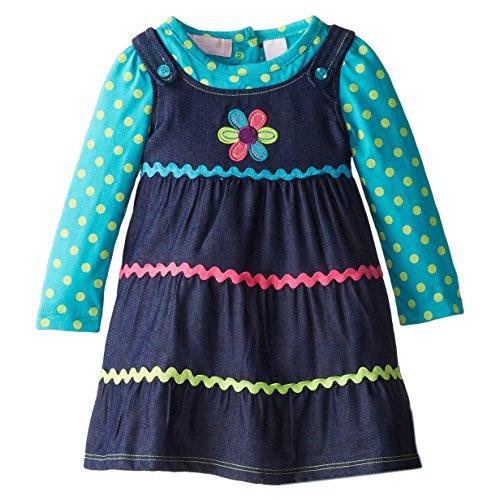 Kids Head Quarters Little Girls' Daisy Dress (Denim 2T)