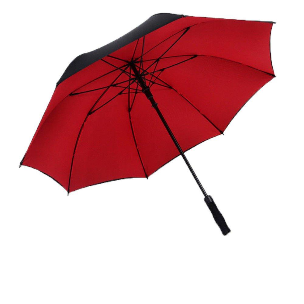 Guoke Long Handle Umbrella Men Business Twin Creative Auto Umbrella Rain Umbrella, 120 Fine Double Bunk Black by Guoke (Image #1)