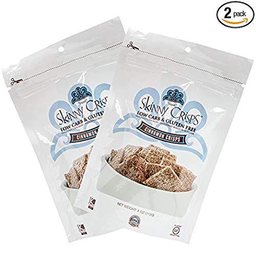 Skinny Crisps Cinnamon Gluten Free Crackers (Pack of 2)