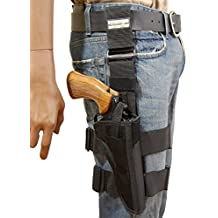 "New Barsony Tactical Leg Holster for 6"" .38 .357 .41 .44 Revolvers"