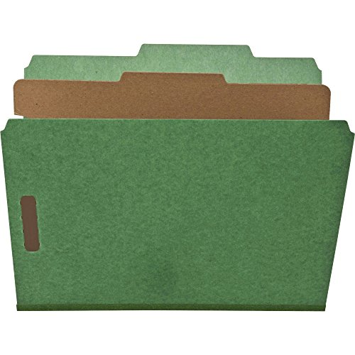 NATSP17203 - Nature Saver 1-Divider Recycled Classification Folders