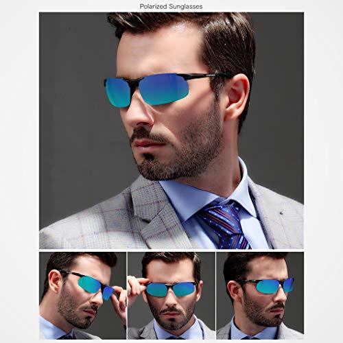 Al Hombre De Ligero Azul Polarized Marco Deportes Mg Súper Queshark De Gafas Metal Sol 68xE6Rqd
