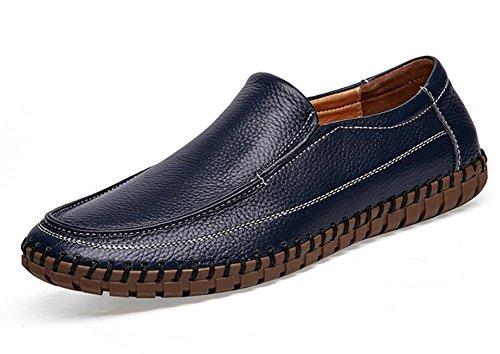 2017 zapatos de los hombres nuevos de cuero transpirable zapatos de gran tamaño cosidos a mano 2