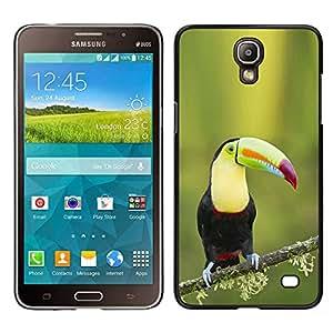 LECELL--Funda protectora / Cubierta / Piel For Samsung Galaxy Mega 2 -- Tucan especies ornitología pájaro resorte verde --