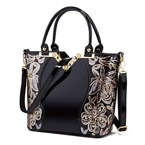 Sac femme Sac Bag main pour bandoulière Lady Aristocratique Sac Black à à à Lxf20 main PU gCdqwHRxH
