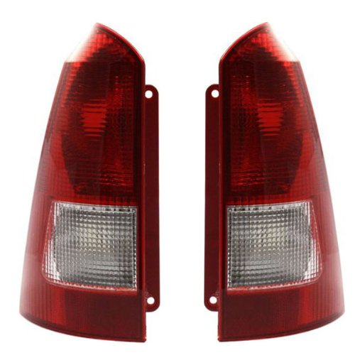 02 Ford Focus Wagon (2000-2003 Ford Focus (Station Wagon Only) Taillight Taillamp (Without Bulbs or Sockets) Rear Brake Tail Light Lamp Set Pair Right Passenger AND Left Driver Side (2000 00 2001 01 2002)