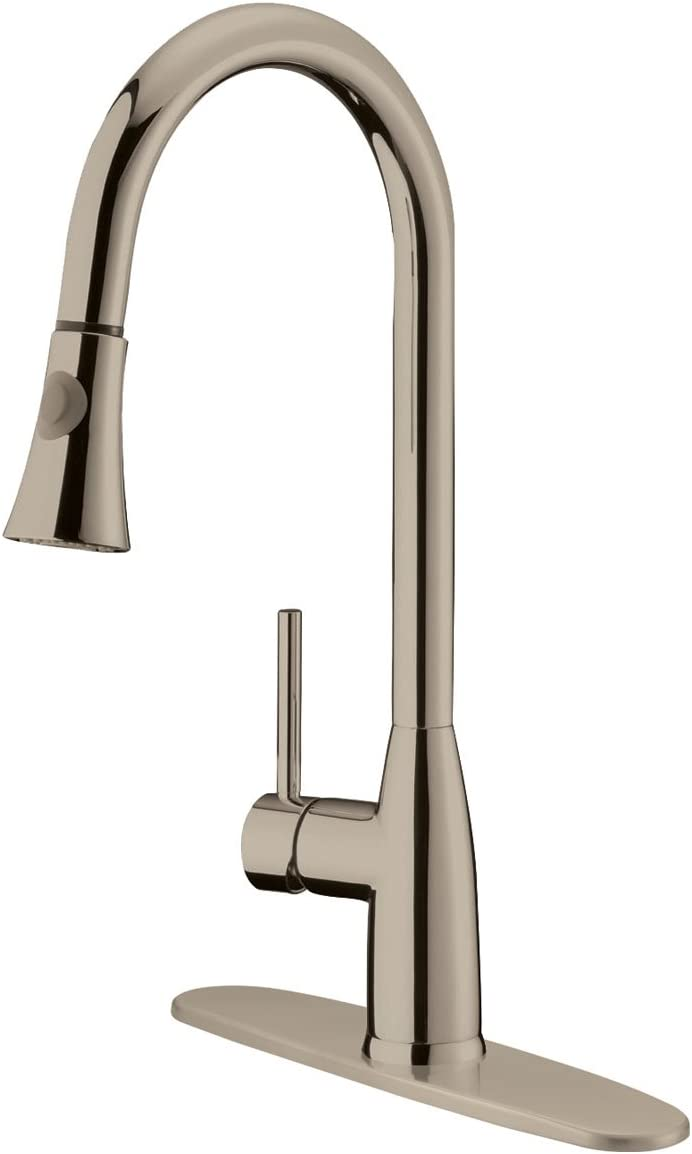 Kitchen Faucet Pullout Brushed Nickel LK12B by LessCare