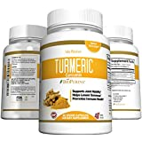 Turmeric Curcumin Powder Capsules - Extra Strength 95% Curcuminoids, Best Antioxidant - Potent Anti-Inflammatory for Heart, Joint and Brain Health, Non-GMO Vegetarian Dietary Supplement, Made in USA