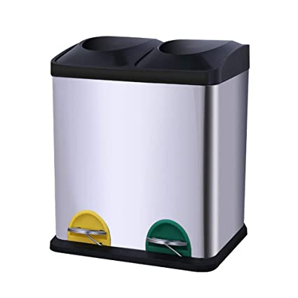 Amazon.com: Light Years Classified Trash Can, Stainless ...