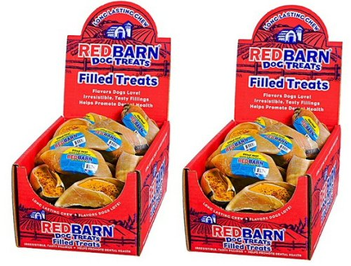 Red Barn Dog Treats Filled Hooves Cheese n' Bacon 50ct (2 x 25ct) by REDBARN