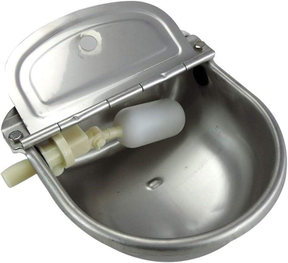 Lucky Farm – Cuencos automáticos de Agua para Ganado de Acero Inoxidable con válvula de Flotador Ajustable para Cabras de Caballos, pastores y cabañas