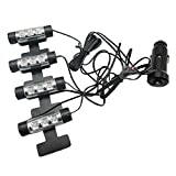 SODIAL(R) 12v Car Charge 4x 3led Glow Interior Decorative Atmosphere Neon Light Lamp