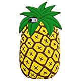 TopSZ Pineapple Case for iPod Touch 6th,Silicone 3D Cartoon Animal Cover,Kids Girls Teens Boys Animated Fruit Design Cool Cute Kawaii Soft Rubber Funny Unique Character Cases for iPod 5th Generation
