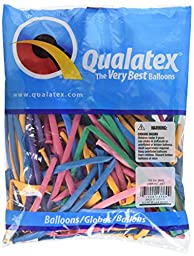 Pioneer Balloon Company 260Q Vibrant Latex Balloons, Assortment