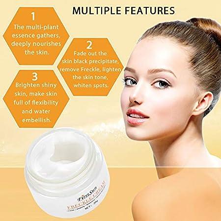 Crema Blanqueadora Facial para Quitar Pecas, Manchas Oscuras y Brillo Tónico Piel Crema Facial Hidratante Facial Natural