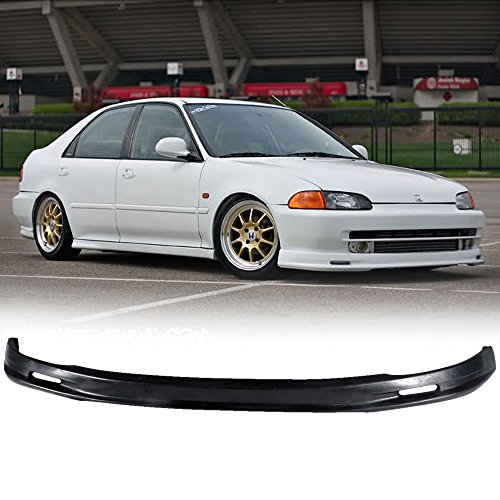 92-95 Honda Civic 4 Door Sedan Add-On Front Bumper Lip Poly Urethane