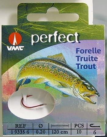 VMC Perfect Forelle gebundene Sbirolinohaken 200cm Vorfach Forellenhaken BAIT