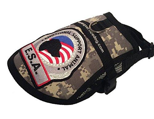 Dog Camouflage Vest - Premium Small Dog Emotional Support Dog ESA Mesh Vest (19