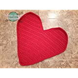 Heart Shaped Blanket Photo Prop Mat Rug