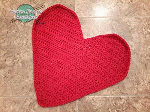 Chunky Newborn Cocoon - Heart Shaped Blanket Photo Prop Mat Rug