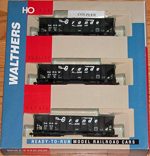 WALTHERS 932-34210 Ballast Hoppers 3-Pack Denver & Rio Grande ()