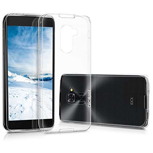 (kwmobile Crystal Case for Alcatel Idol 4S - Soft Flexible TPU Silicone Protective Cover - Transparent )