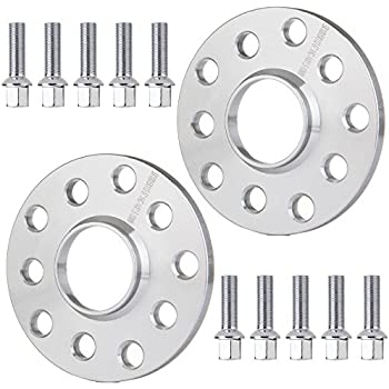 ECCPP Wheel Spacer 5x100& 5x112mm, 5 Lug Wheel Spacers 2X 10mm 5x100 & 5x112mm 57.1mm for Volkswagen Beetle CC EOS Golf GTI with 14x1.5 Studs