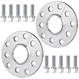 Wheel Spacer for Audi Series,ECCPP 5 Lug Wheel Spacers 2 X 10mm Thick 5x100 & 5x112mm 57.1mm for Audi Audi A3 A4 A5 A6 A8 S4 S6 S8 RS4 RS6 Quattro Q3 TT 90/100 200 4000 5000 with 14x1.5 Studs