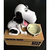 Decentgadget® Puppy Doggy Banküber Hungry Hound Spardosen Kinder Bank-Münzkassette-Eating Money Saving Box (Schwarz)