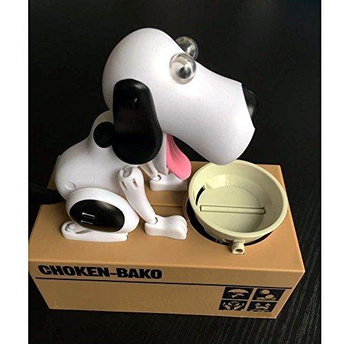 Puppy Doggy Bank Hungry Hound Denaro Banche Bambini Banca Coin-mangiare il denaro scatola di risparmio (nero) DecentGadget