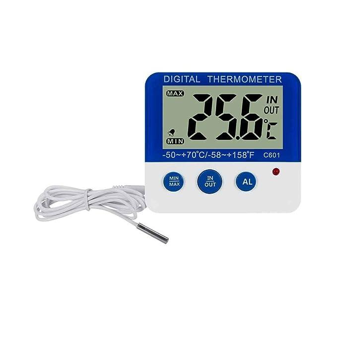 topker C601 Digital nevera termómetro indicador de alarma LED ...