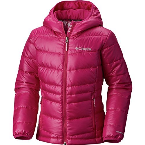 Columbia Girls Gold 550 Turbodown Hooded Down Jacket, Deep Blush, Medium