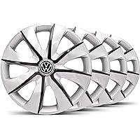 Jogo Calota Prime Aro 14 Prata/Grafite VW Gol G5