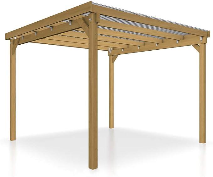 GHS Refugio de 3 x 3 m para asar, techado, Jardín dispositivos, motos y muebles de jardín: Amazon.es: Jardín