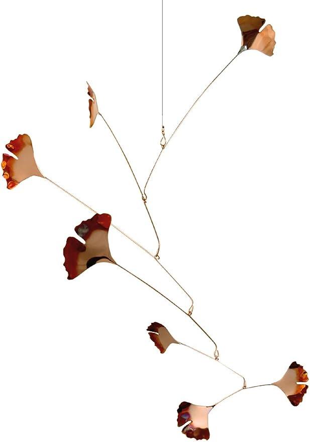 Modern Artisans Cobre Ginkgo hojas Spinning móvil para uso en ...