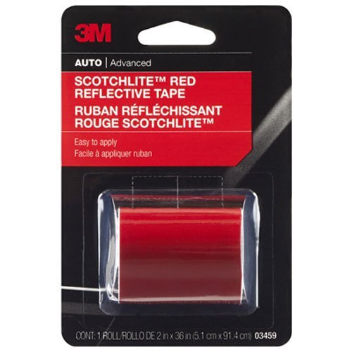 3M Scotchlite Reflective Tape, Red, 2-Inch by - Reflective Red Tape
