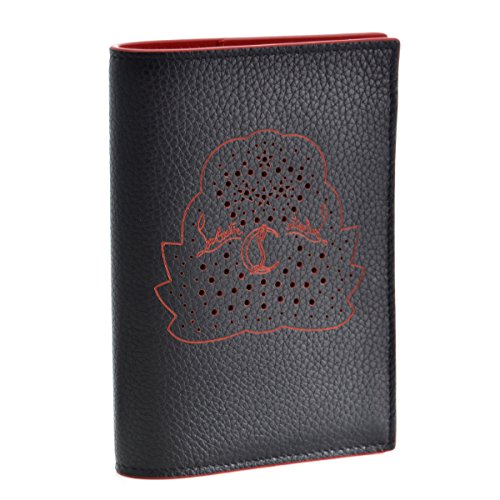 Christian Louboutin(クリスチャン ルブタン) カードケース メンズ LOUBIPASS パスポートケース ブラック 1185051-0001-BK01 [並行輸入品] B079VKRVXK