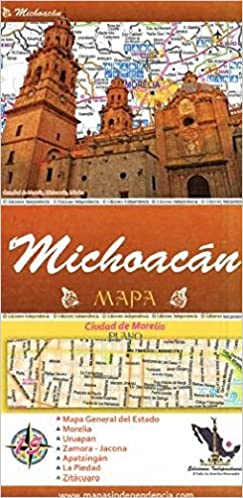 michoacan mexico state and major cities map spanish edition ediciones independencia 9789709811148 amazoncom books