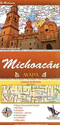 Michoacan State Map.Michoacan Mexico State And Major Cities Map Spanish Edition