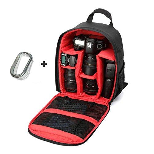 Kamera Taschen, Transer® Kamera Rucksack Kamera tasche Rucksack Wasserdicht DSLR Fall mit Karabiner für Canon