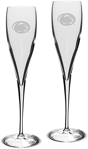 University Glass NCAA Unisex Collegiate Luigi Bormioli 6 oz Titanium Toasting Glass - Set of 2