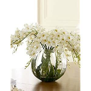 Artificial Flowers, Fashion Bouquets,A Bunch of 6 Head of Polyester/PU Orchids Artificial Flowers, Light Green 14