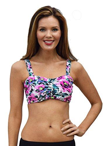 (MZ1074) Mazu Swim Women's Underwire Bikini Top in Pink Size: 14