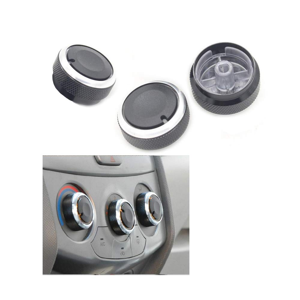 VIGORWORK 3X Car Styling Aluminum Alloy Car Air Conditioning AC Switch Knob fit for Chevrolet Sail Auto Decoration Accessories