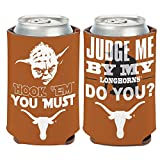 WinCraft Texas Longhorns Official NCAA 4 inch Star Wars Yoda Insulated Coozie Can Cooler by 158154