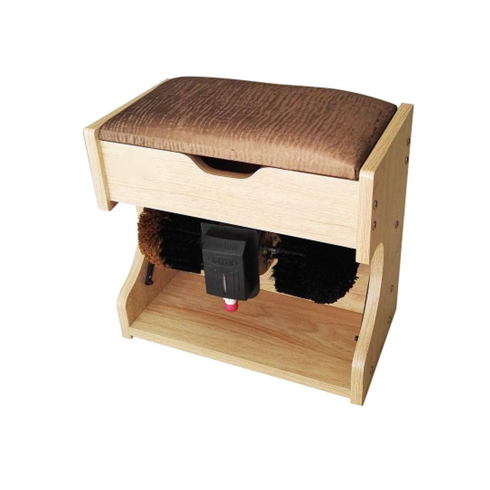 BLWX - Shoe Polisher-Automatic Induction Automatic Shoe Polisher, Household Electric Shoe Polisher, Small Shoe Polisher Wooden Material Electric Shoe polishing Machine (Color : B, Size : 1#)