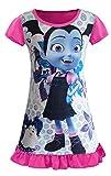 AOVCLKID Vampirina Comfy Loose Fit Pajamas Girls Printed Princess Dress (Rose,130/5-6Y)