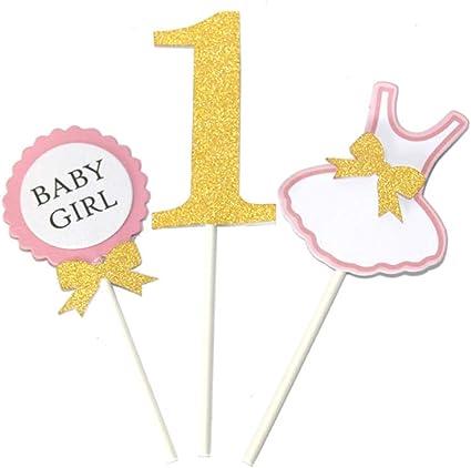 Wondrous Amazon Com Bestoyard Cake Topper 1 Year Old Baby Boy Girl Funny Birthday Cards Online Overcheapnameinfo